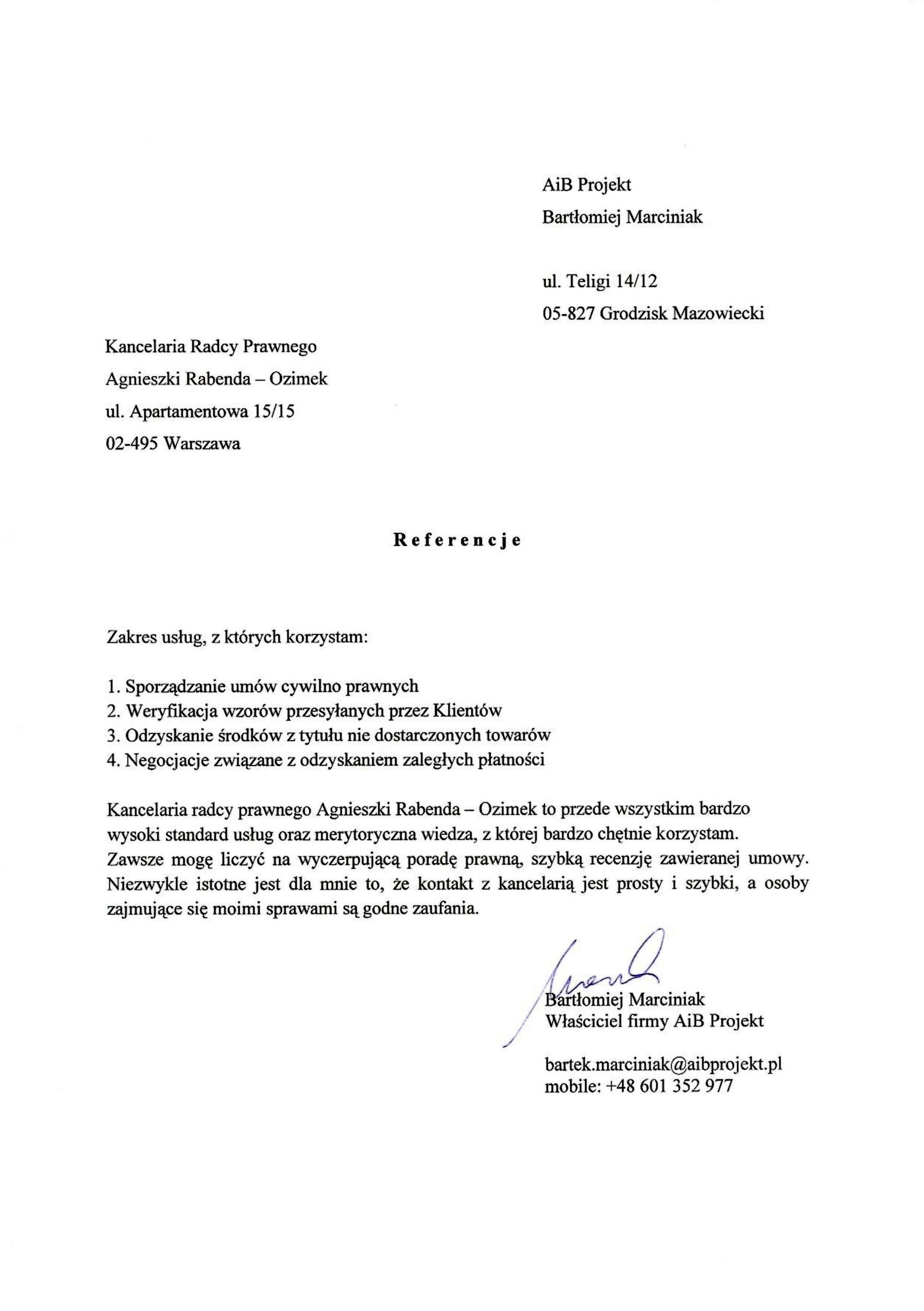 AiB Projekt Bartłomiej Marciniak